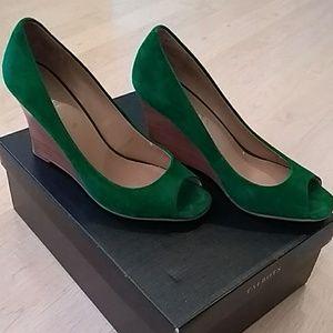 Talbots suede wedge heels